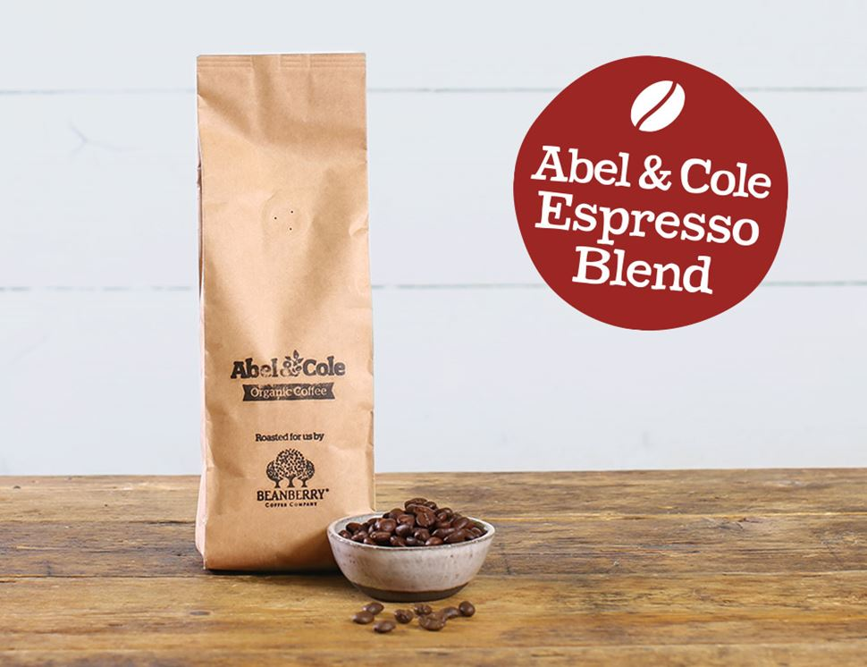 Espresso Blend Coffee Beans, Organic, Abel & Cole, (250g)