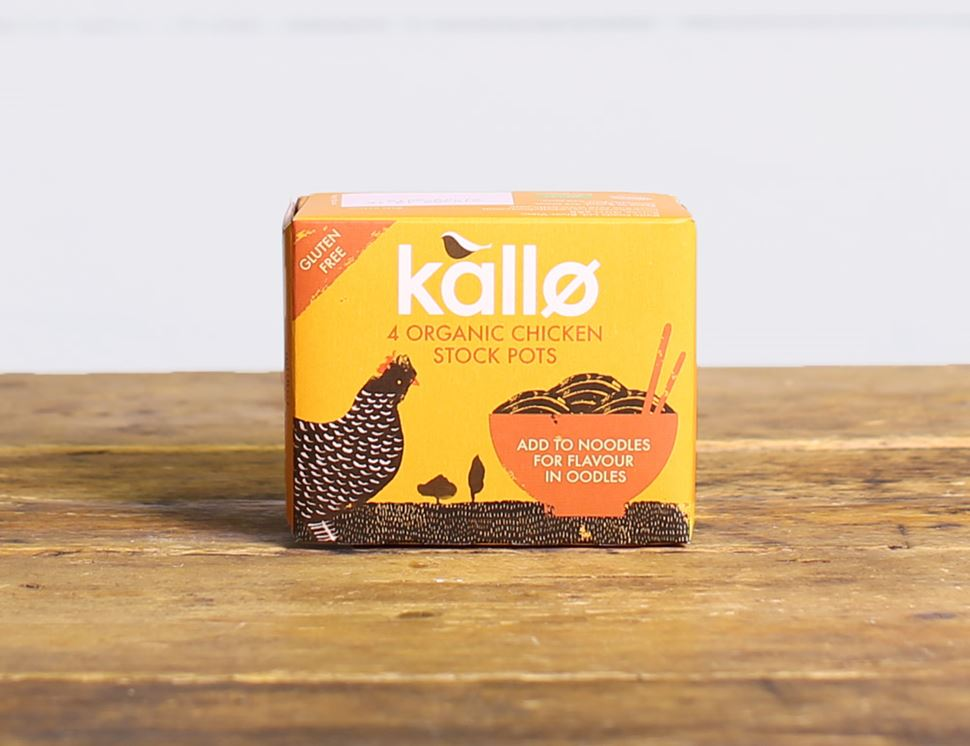 Chicken Stock Pots, Organic, Kallo (4 pack)