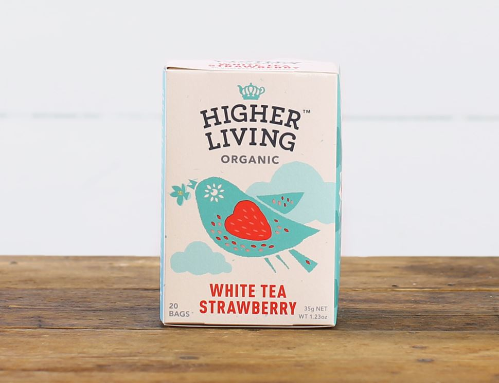 White Tea with Strawberry, Organic, Higher Living (20 bags)