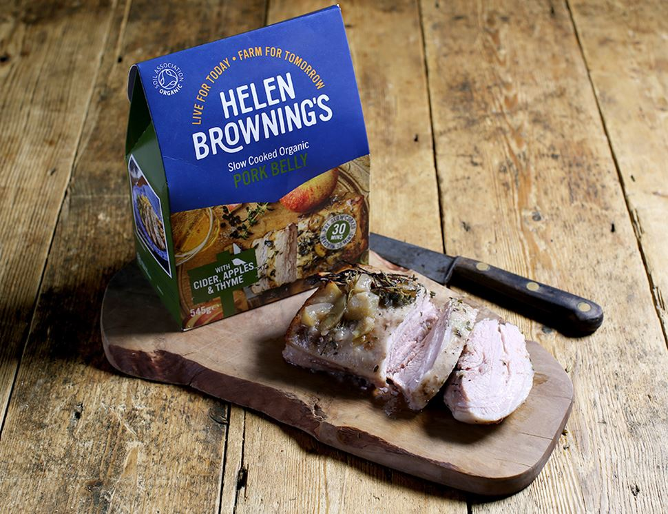 Pork Belly with Cider, Apples & Thyme, Organic, Helen Browning (545g)