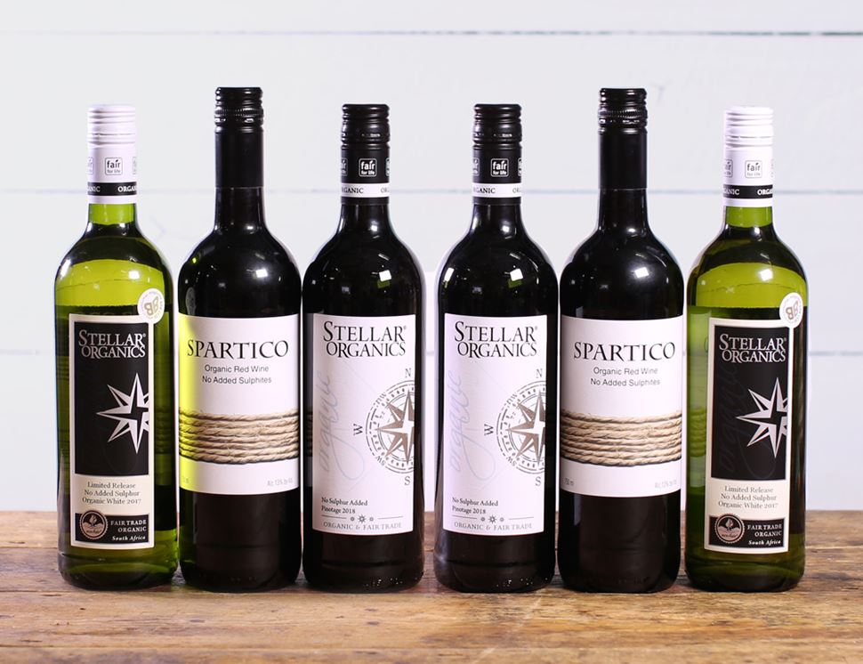 Organic No Added Sulphur Wine Collection, Organic (6 x 75cl)