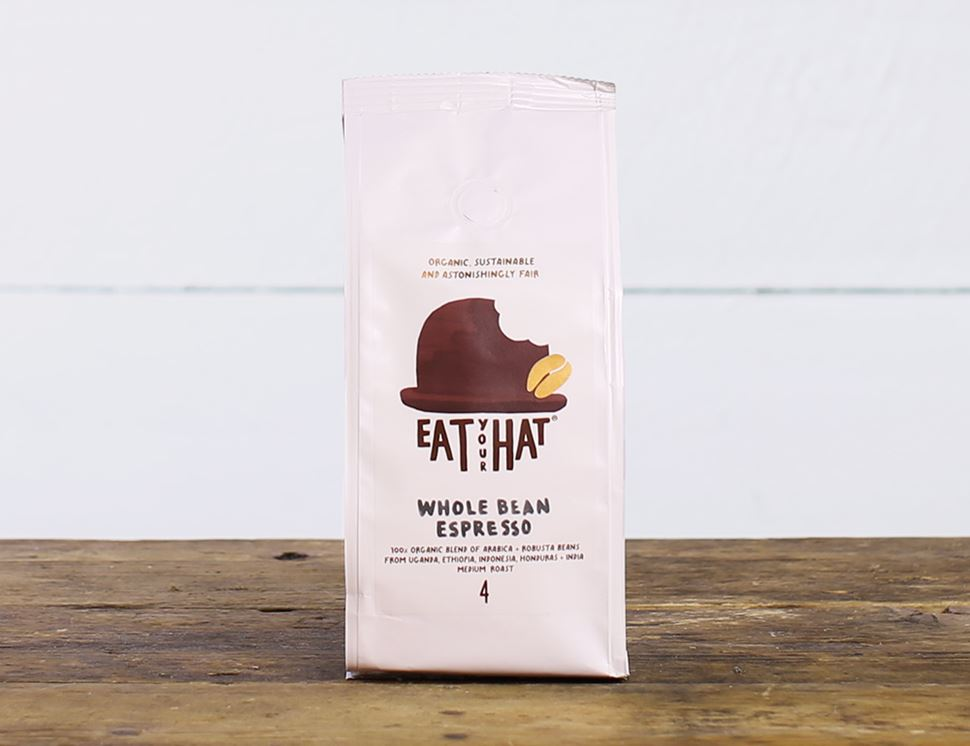 Whole Bean Espresso Coffee, Organic, Eat Your Hat (200g)