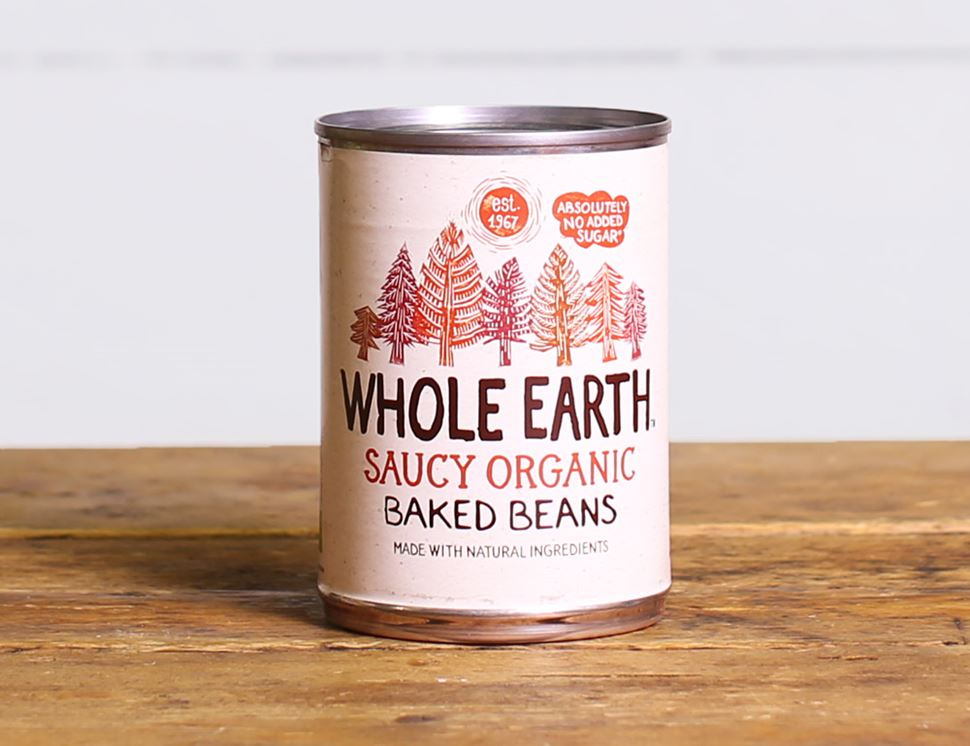 Saucy Baked Beans, Organic, Whole Earth, (400g)
