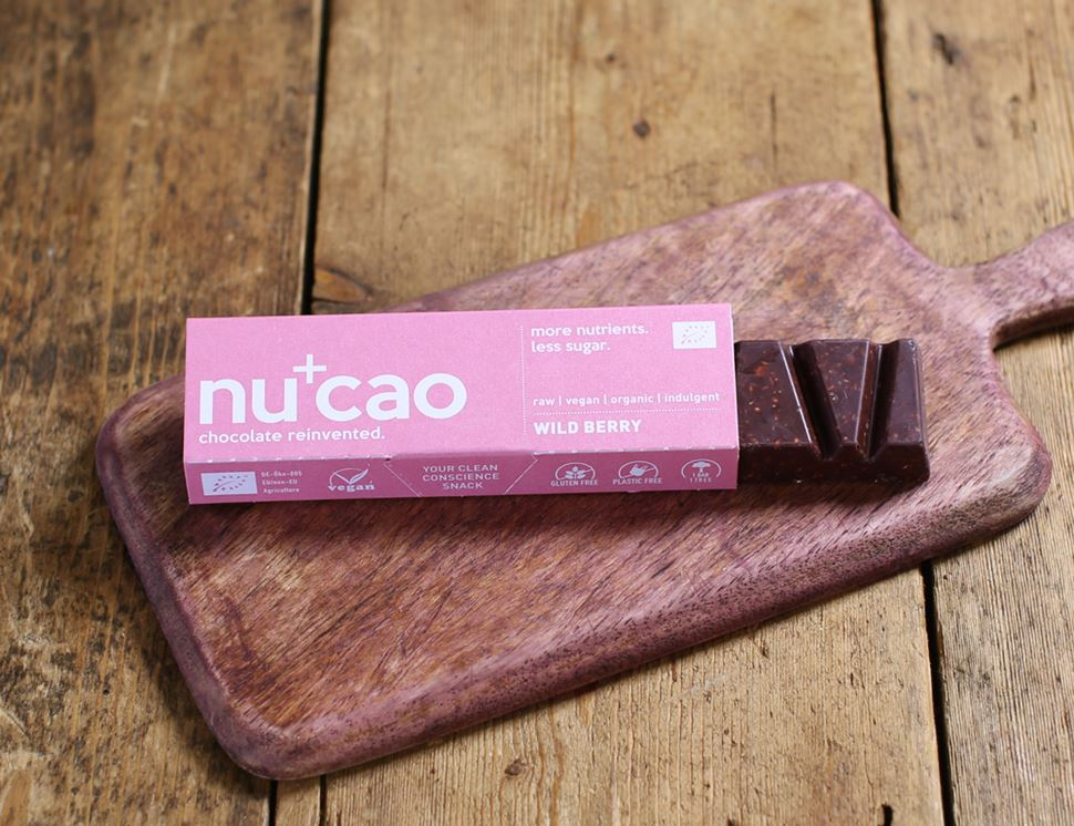 Wild Berry Raw Chocolate Bar, Organic, Nu Cao (40g)
