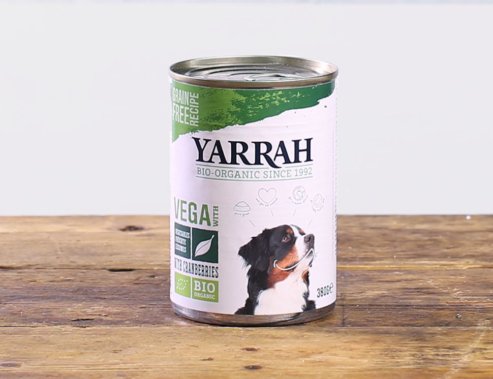 Vegan Chunks with Cranberries for Dogs, Organic, Yarrah (380g)