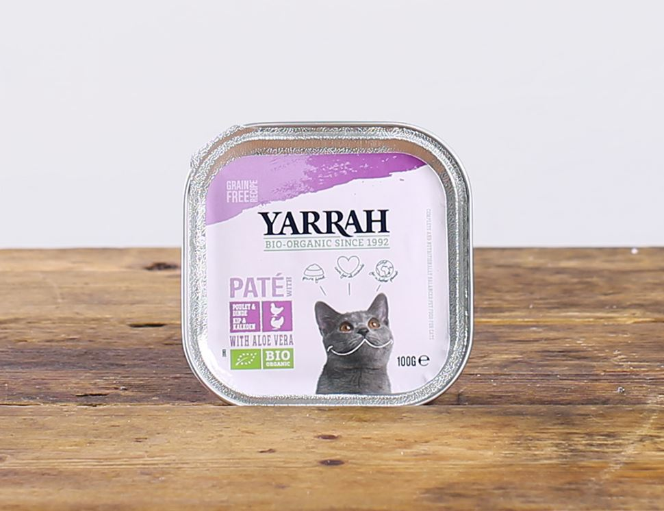 Chicken, Turkey & Aloe Vera Pâté for Cats, Organic, Yarrah (100g)