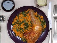 Roast Chicken & Sweet Potato Mash