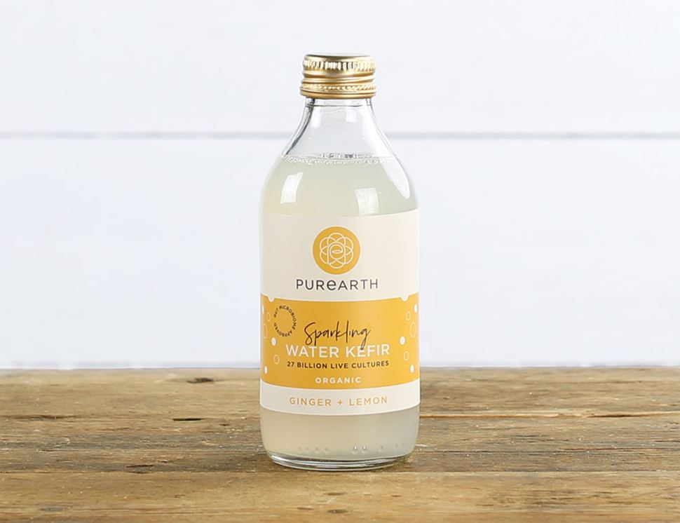 Ginger & Lemon Water Kefir, Organic, Purearth (270ml)