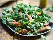 Honeyed Spiced Rhubarb & Quinoa Salad