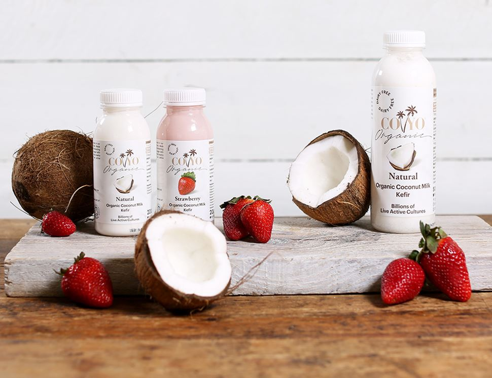 Strawberry, Dairy Free, Coconut Milk Kefir, Organic, COYO (200ml)