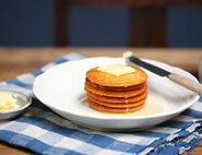 Honeyed Orange & Polenta Pancakes