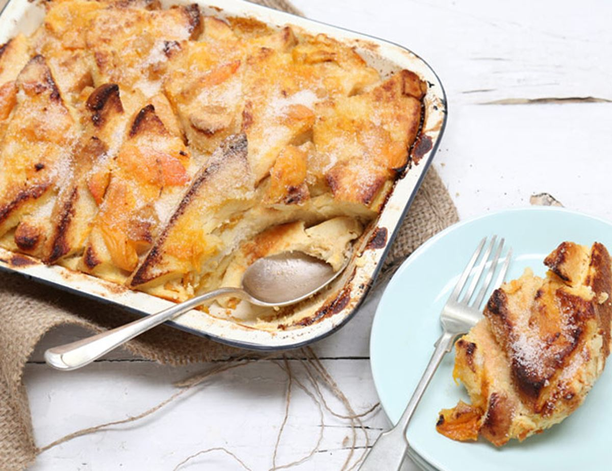 Apricot & Ginger Bread & Butter Pudding