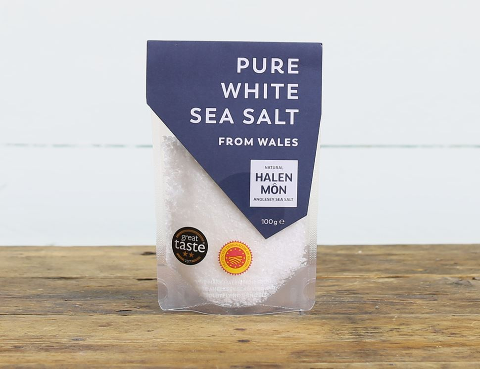 Pure White Sea Salt, Halen Môn (100g)