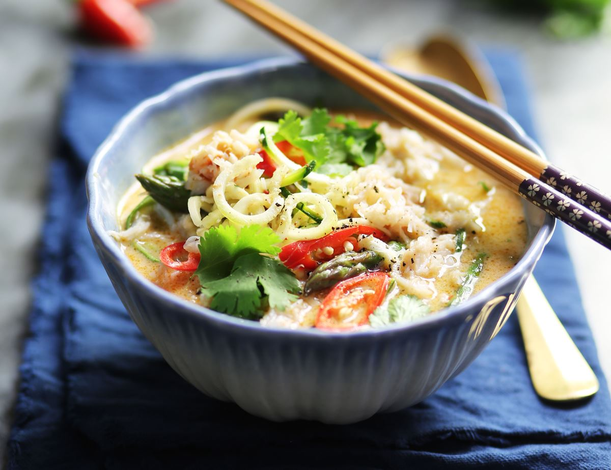 Crab & Coconut Laksa Soup