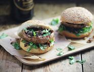 Asian Mushroom Burgers with Crispy Shallots