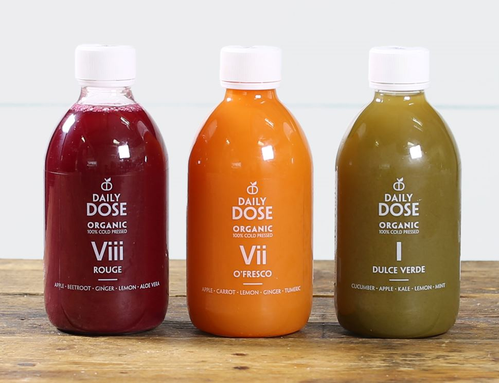 One of Each Juices (Dulce Verde, Rouge, O'Fresco), Organic, Daily Dose (3 x 300ml)
