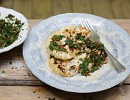 BBQ Cauliflower Steaks & Chimichurri Sauce