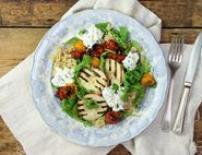 Griddled Peach, Heirloom Tomato & Ricotta Salad