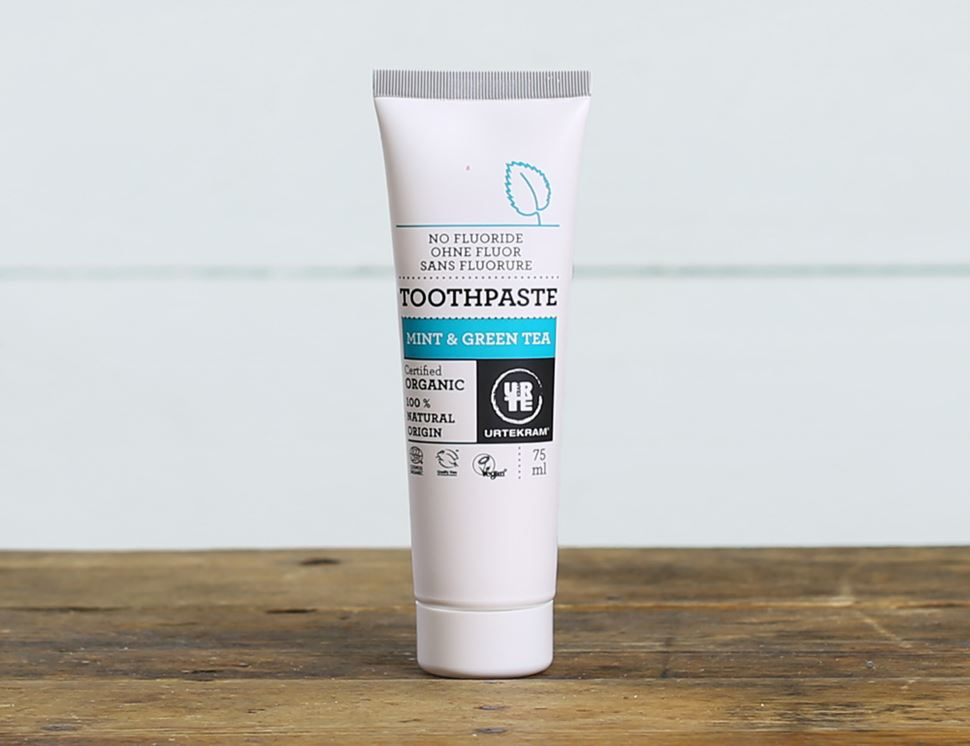 Mint & Green Tea Toothpaste, Organic, Urtekram (75ml)