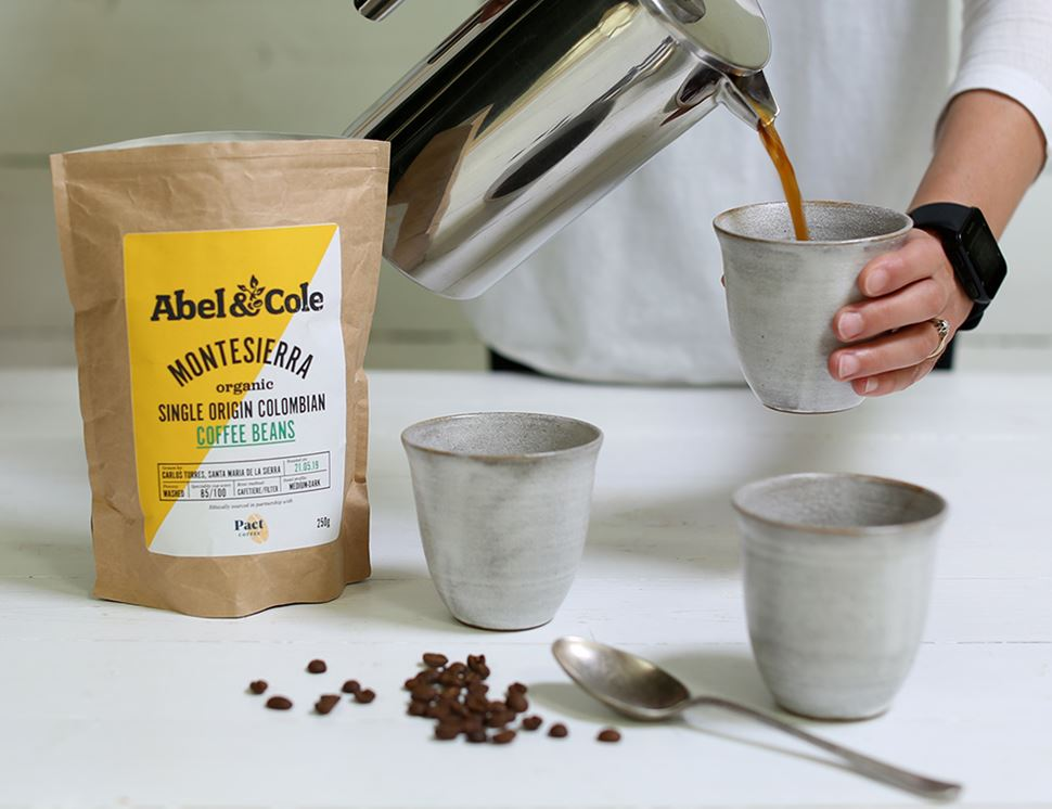 Colombian Coffee Beans, Organic, Abel & Cole (250g)