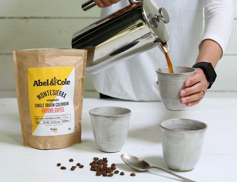 Colombian Coffee Filter Ground, Organic, Abel & Cole (250g)