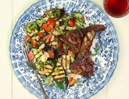 Grilled Lamb Chops with Cannellini Bean Salad