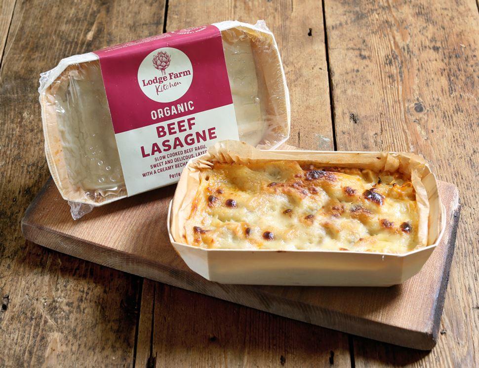 Beef Lasagne for One, Organic, Lodge Farm Kitchen (350g)