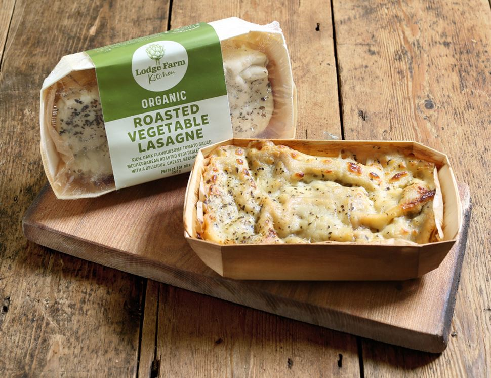 Vegetable Lasagne for One, Organic, Lodge Farm Kitchen (350g)