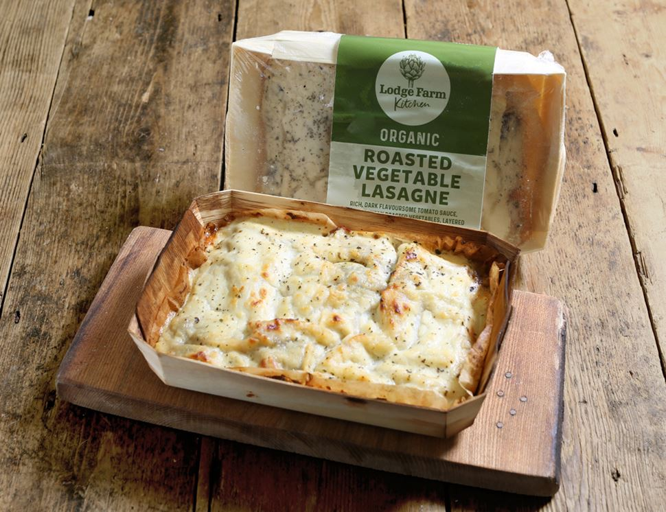 Vegetable Lasagne for Two, Organic, Lodge Farm Kitchen (700g)