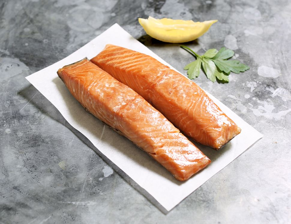 Hot Smoked Salmon, Organic, Severn & Wye Smokery (200g)