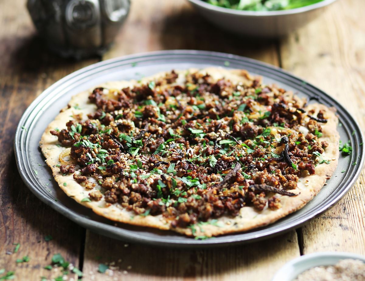 Lamb Lahmacun with Sesame Dressing