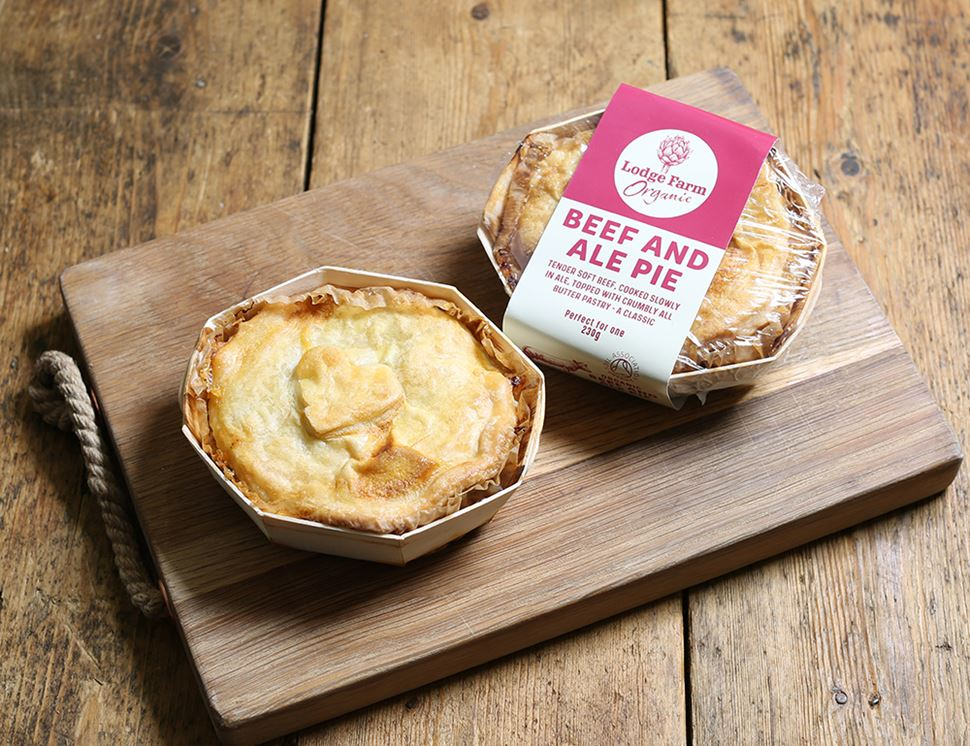 Beef & Ale Pie, Organic, Lodge Farm Kitchen (230g)