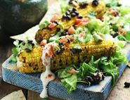 Barbecued Sweetcorn & Black Bean Guacamole
