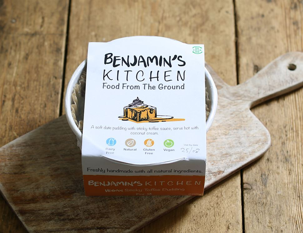 Vegan Sticky Toffee Pudding Organic Benjamin S Kitchen 200g