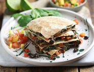 Corn & Bean Quesadillas with Tropical Salsa